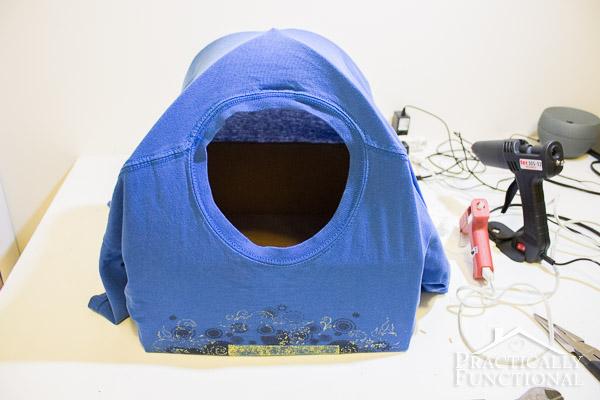 DIY Cat Tent Bed-7
