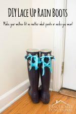 DIY Lace Up Rain Boots