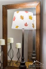 Decoupage Fall Leaves Lampshade