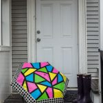 DIY Neon Color Block Umbrella