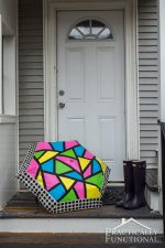 Neon Color Block Umbrella