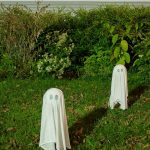 DIY Floating Halloween Lawn Ghosts