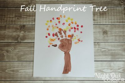 Make a handprint tree with your child to celebrate fall!