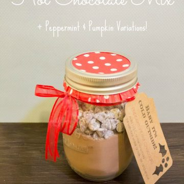 Homemade Hot Chocolate Mix Recipe {+ Peppermint & Pumpkin Variations!}