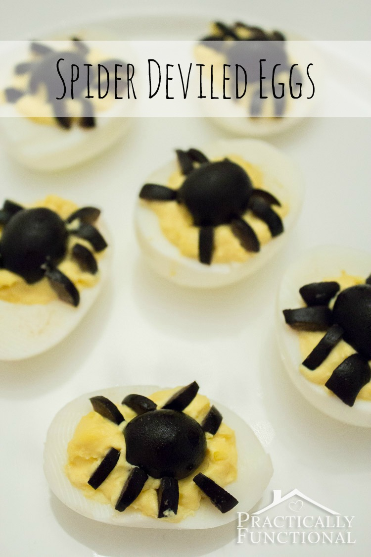 Spider Deviled Eggs Recipe
