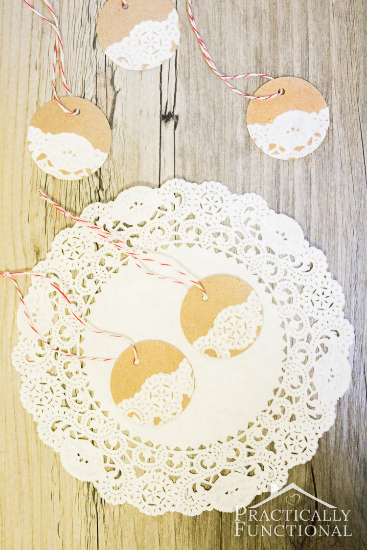 Diy Paper Doily Holiday Gift Tags