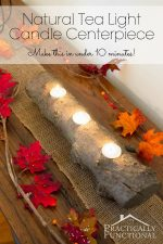 Natural Tea Light Candle Centerpiece In Under 10 Minutes!