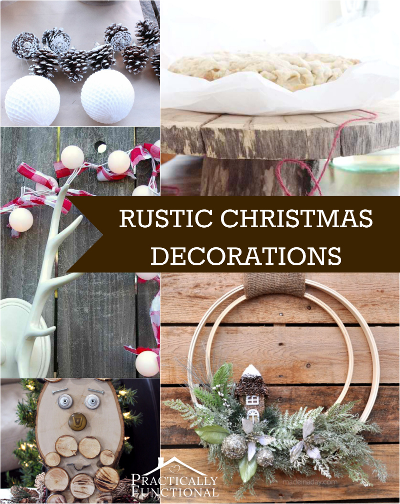 10 diy rustic christmas decorations. Black Bedroom Furniture Sets. Home Design Ideas