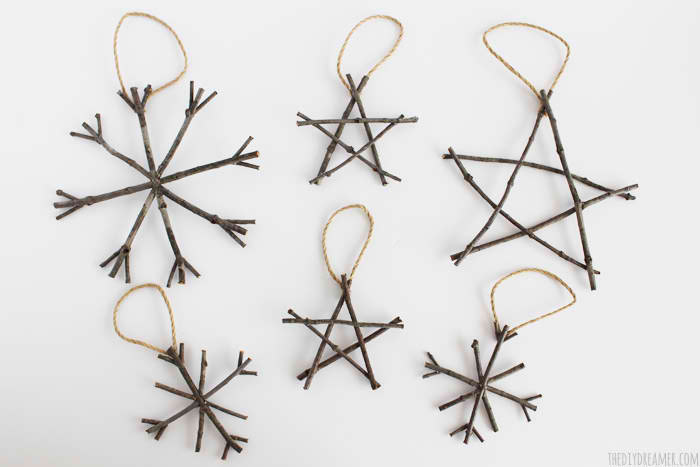 Rustic Twig Ornaments from DIY Dreamer