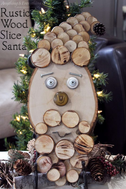 Rustic Wood Slice Santa from My Anything and Everything