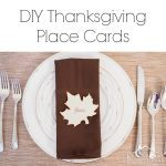 Simple Thanksgiving Place Cards {+ printable}