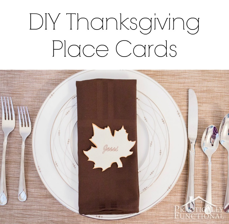 Simple Thanksgiving Place Cards Printable Practically Functional