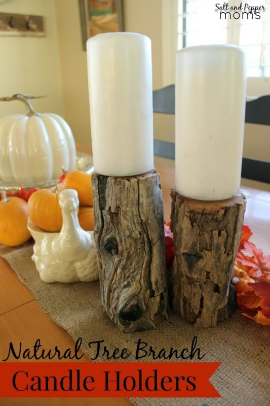 Tree Branch Candle Holders by Salt and Pepper Moms