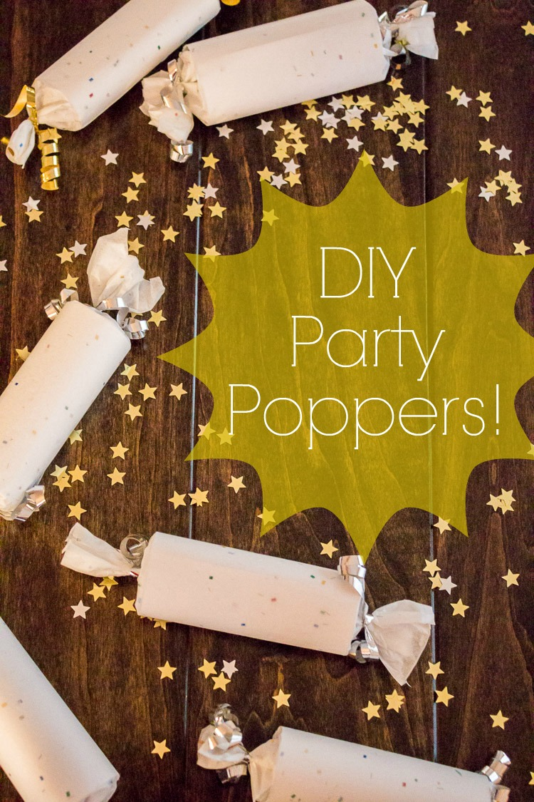 DIY confetti-filled party poppers, perfect for Christmas, New Year's, or a birthday party! They even make the loud crack when you pop them open!