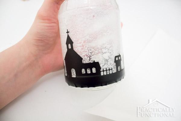 DIY Snowy Silhouette Candle Jar-12