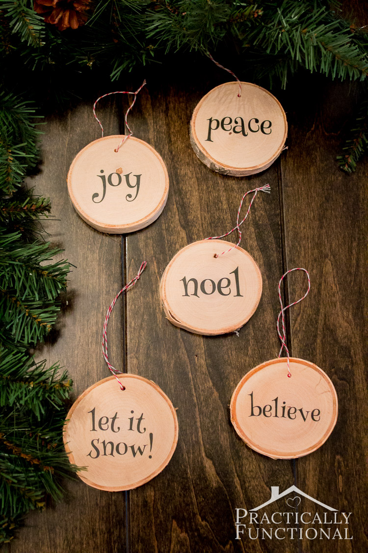 Diy wood slice christmas ornaments