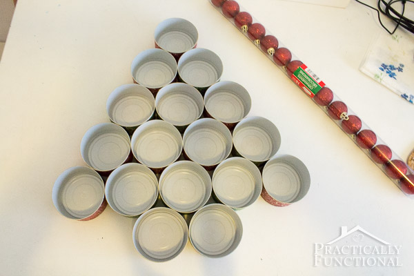 Recycled Tin Can Christmas Tree-10