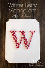 Winter Berry Monogram Wreath Alternative