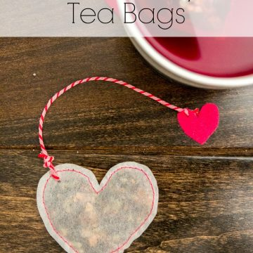DIY Heart Shaped Tea Bags For Valentine's Day!