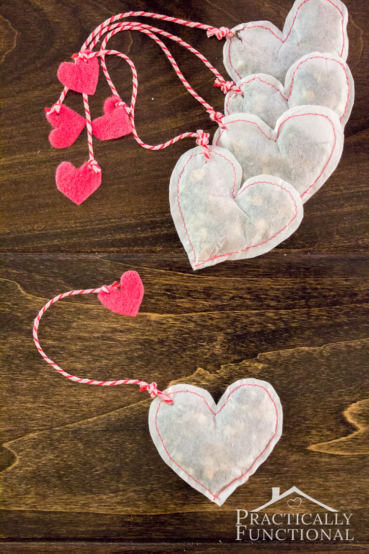 Diy Heart Shaped Tea Bags For Valentine S Day