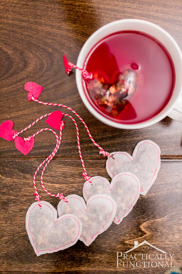 diy heart shaped tea bags for valentine u0027s day