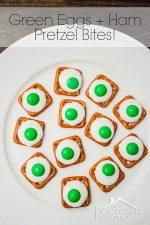 Green Eggs And Ham Pretzel Bites