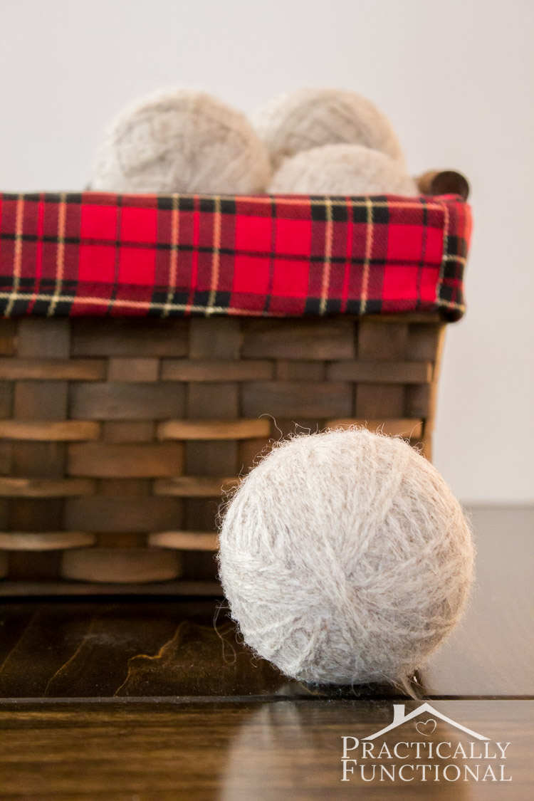 Learn how to make homemade felted wool dryer balls to save time and money and reduce static in your laundry!