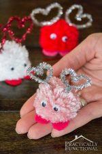 How To Make Valentine's Day Pom Pom Monsters