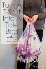 How To Turn A T-Shirt Into A Tote Bag Without Sewing!