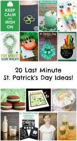 20 Last Minute St. Patrick's Day Ideas!