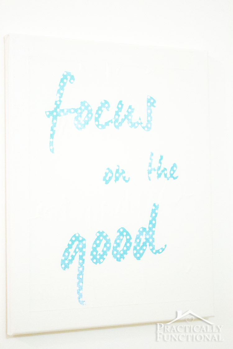 Remind yourself to focus on the good with this easy DIY wall art!
