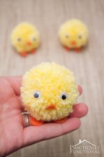 Pom Pom Chicks For Easter