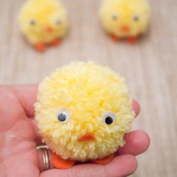 Pom Pom Chicks For Easter