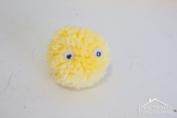 How to make Easter pom pom chicks-8