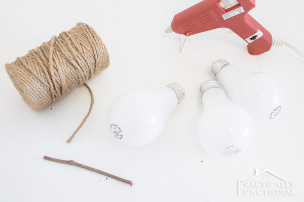 Recycle Lightbulbs Into Twine Wrapped Pears-5
