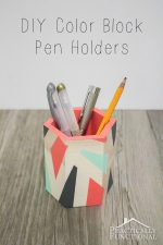 DIY Color Block Pen Holders