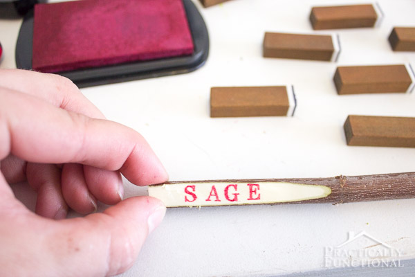 DIY Twig Plant Markers For Your Garden-7