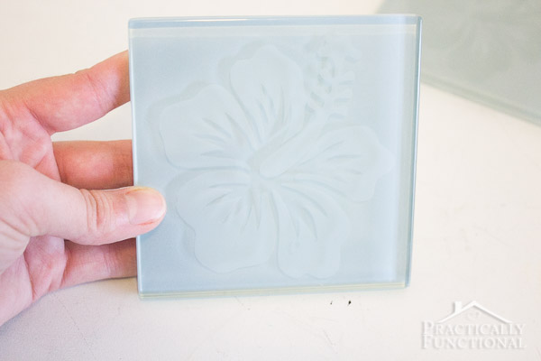 How To Etch Glass Tile Coasters-5