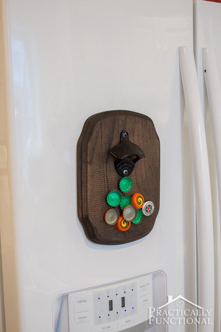 how to make a diy magnetic bottle opener. Black Bedroom Furniture Sets. Home Design Ideas