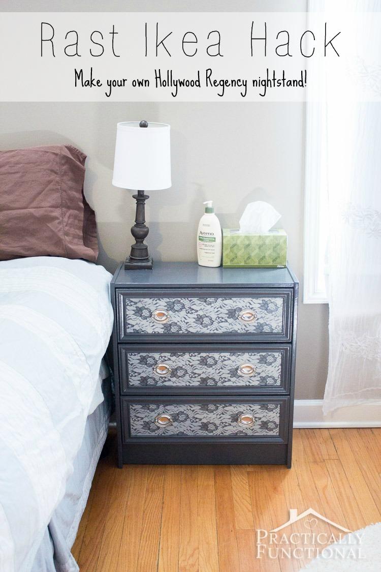 rast ikea hack make your own hollywood regency nightstand. Black Bedroom Furniture Sets. Home Design Ideas