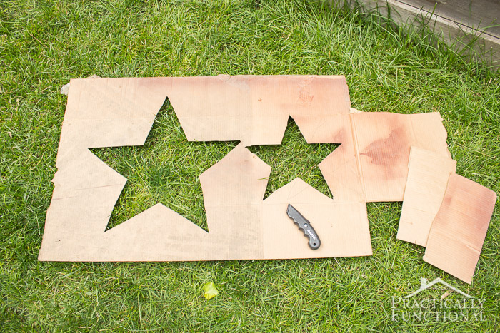 4th of July Spray Painted Lawn Stars-7