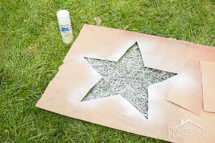 4th of July Spray Painted Lawn Stars-8