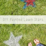 Spray Painted Lawn Stars