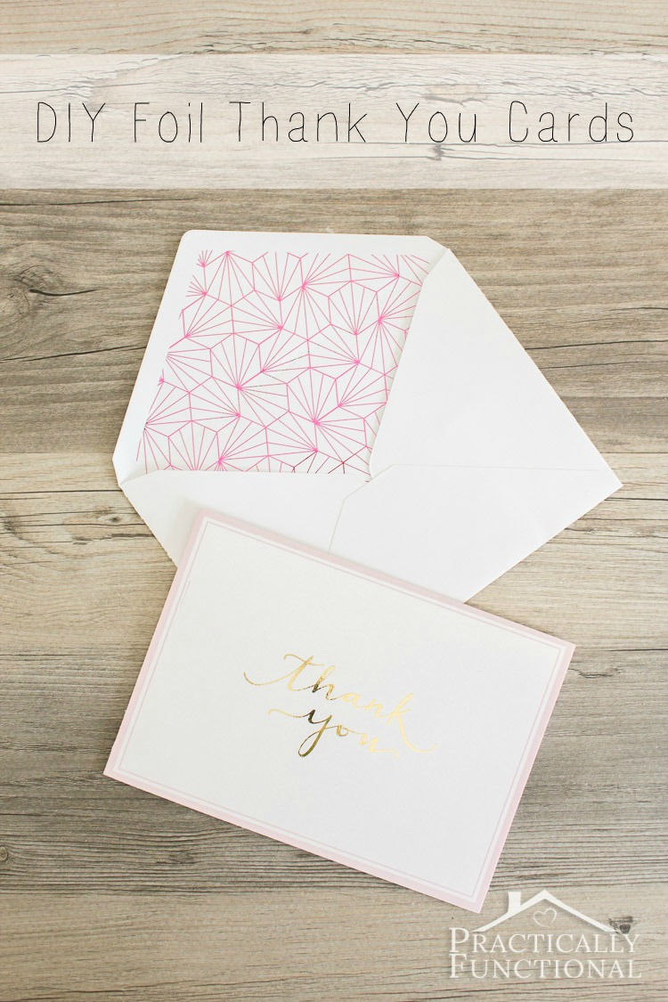 Diy Foil Thank You Cards