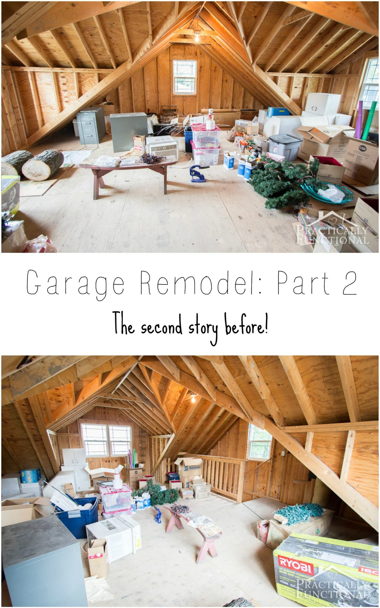Garage Remodel Plans: The Second Story Before!