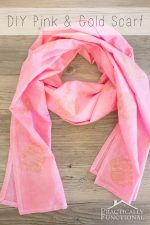 DIY Pink And Gold Elephant Scarf