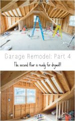Garage Remodel Progress: Upper Floor Framing And Electrical Work