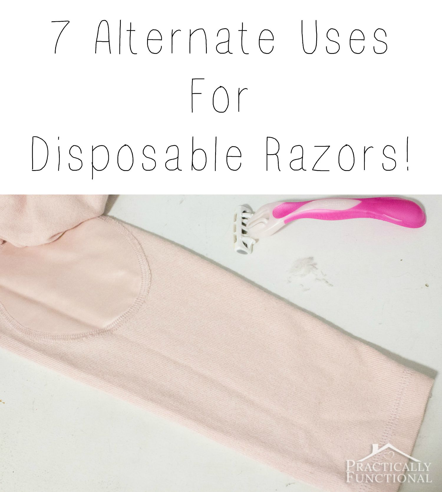 Check out these 7 alternate uses for disposable razors!