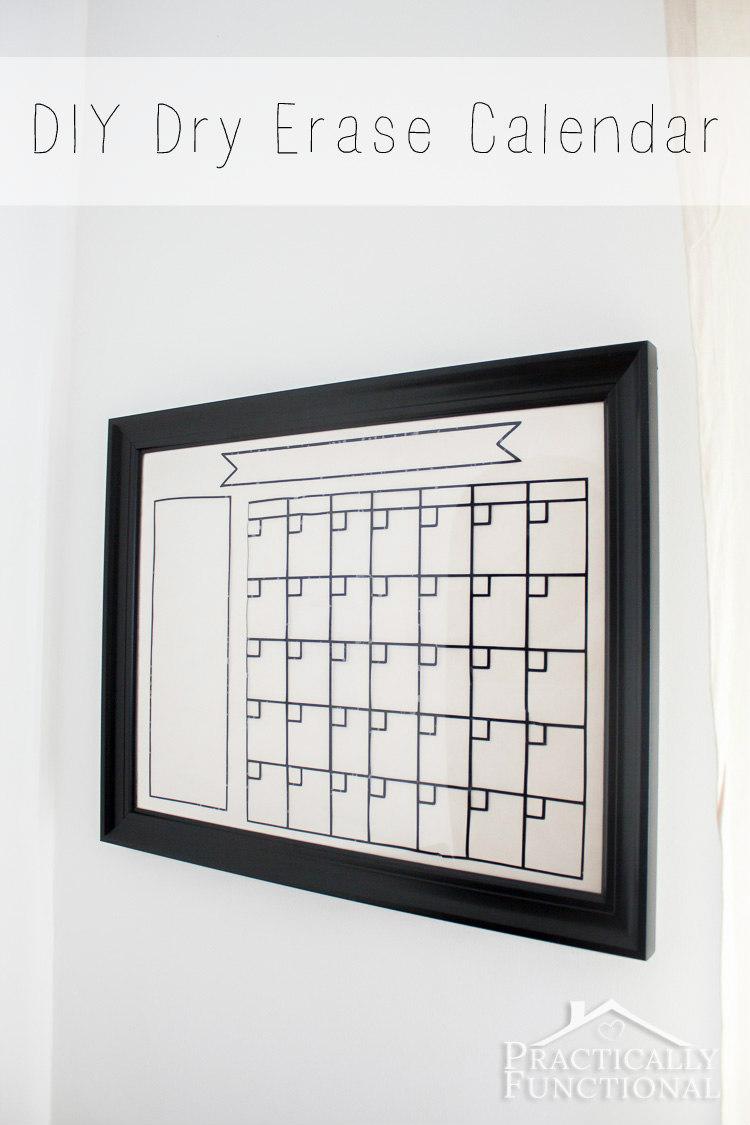 Diy Calendar Whiteboard : Diy dry erase calendar