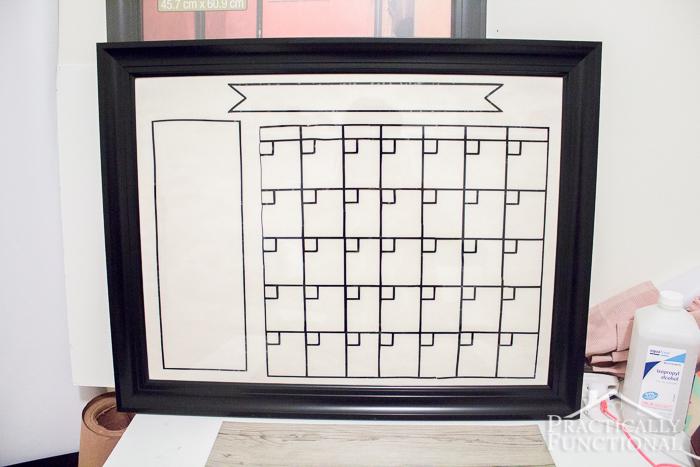 Diy Dry Erase Calendar : Diy dry erase calendar